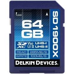 New - DELKIN 64GB SDXC 1900X UHS-I / UHS-II (U3/V60) - quick order from manufacturer