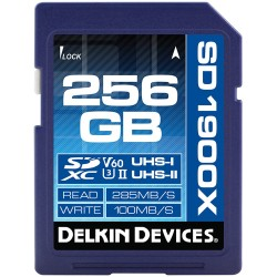 New - DELKIN 256GB SDXC 1900X UHS-I / UHS-II (U3/V60) - quick order from manufacturer
