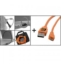 Kabeļi - Tether Tools Starter Tethering Kit USB 2.0 Mini-B 8-Pin 4,6m - ātri pasūtīt no ražotāja