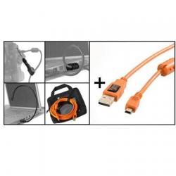 Kameru aksesuāri - Tether Tools Starter Tethering Kit USB 2.0 Mini-B 5-pin 4,6m - perc šodien veikalā un ar piegādi