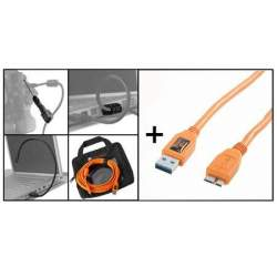 Kabeļi - Tether Tools Starter Tethering Kit with USB 3.0 Micro-B Cable 4,6m - ātri pasūtīt no ražotāja