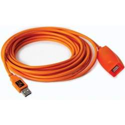 Kabeļi - Tether Tools Tether Pro USB 2.0 Active Extension 5m Orange - perc šodien veikalā un ar piegādi