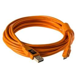 Kabeļi - Tether Tools Tether Pro USB 2.0 Male to Micro-B 5 pin 4,6m Orange - perc šodien veikalā un ar piegādi