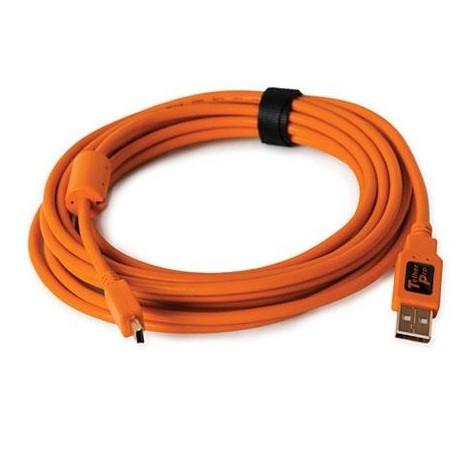 Kabeļi - Tether Tools Tether Pro USB 2.0 Male to Mini-B 5 pin 4.6m - ātri pasūtīt no ražotāja