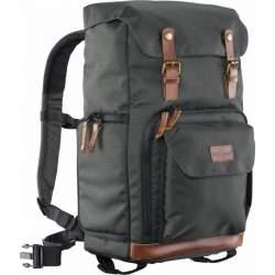 Mugursomas - Walimex Mantona photo backpack Luis green, retro - купить сегодня в магазине и с доставкой