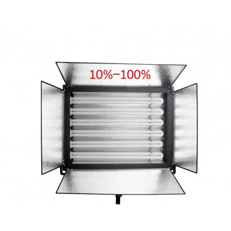 Video aprīkojums - Menik MM-9D divu dienas gaismas paneļu 6x55W komplekts ar maināmu gaismas intensitāti