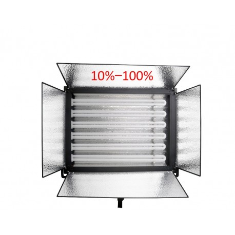Video gaismas - Menik MM-9D divu dienas gaismas paneļu 6x55W komplekts ar maināmu gaismas intensitāti