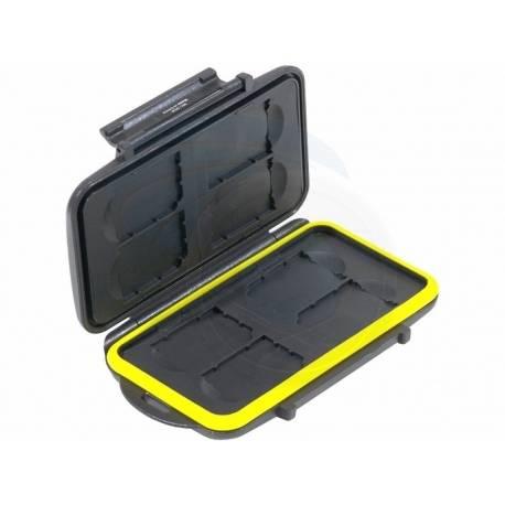 Atmiņas kartes - JJC MC-SD8 Memory Card Case weather resistant 8pcs SD cards - perc šodien veikalā un ar piegādi