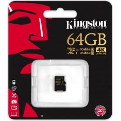 Atmiņas kartes - Kingston Gold UHS-I U3 64GB, microSDXC atmiņas karte class 10 - perc šodien veikalā un ar piegādi