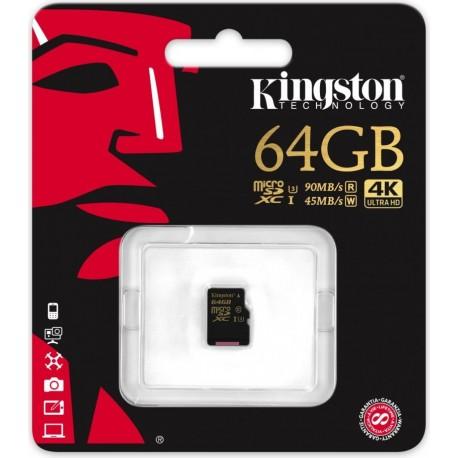 Atmiņas kartes - Kingston Gold UHS-I U3 64GB, microSDXC atmiņas karte class 10 - perc veikalā un ar piegādi