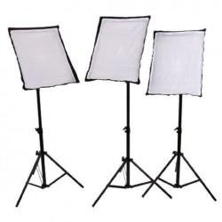 Fluorescējošās - StudioKing Daylight Kit SB03 3x135W - perc veikalā un ar piegādi