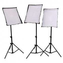 Fluorescent - StudioKing SB03 3x135W 3x 50x70cm w boom Daylight Kit - quick order from manufacturer