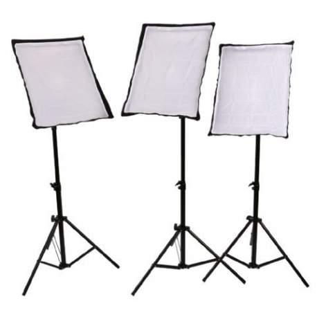 Fluorescējošās - StudioKing SB03 3x135W 3x 50x70cm dienas gaismu komplekts - ātri pasūtīt no ražotāja