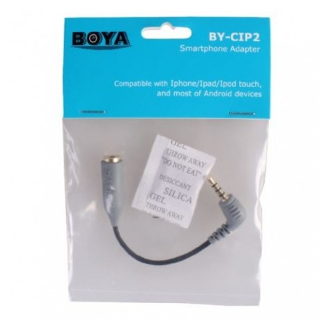 Mikrofonu aksesuāri - Boya Smartphone Adapter BY-CIP for iOS and Android - TRS TRRS - купить сегодня в магазине и с доставкой