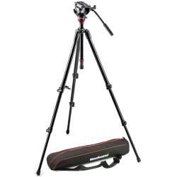 Kameru aksesuāri - Manfrotto 755XBK video statīvs + MVH500AH fluīda galva - perc veikalā un ar piegādi