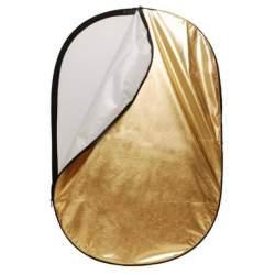 Saliekamie atstarotāji - Linkstar atstarotājs 60x90cm R-6090GS zelta/sudraba 566411 - perc veikalā un ar piegādi