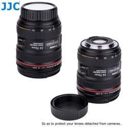 Objektīvu vāciņi - JJC Rakstāms aizmugurējās lēcas vāciņš Canon EF/EF-S lēcai - perc veikalā un ar piegādi