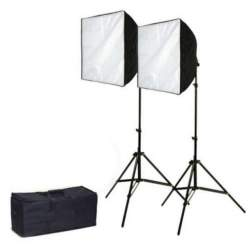 Fluorescējošās - Bresser BR-2238 DAYLIGHT set 1250W 2x 50x70cm 125W - perc veikalā un ar piegādi