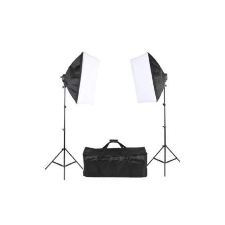 Fluorescējošās - StudioKing SB01 10x45W 2x 60x90cm dienas gaismas komplekts - perc šodien veikalā un ar piegādi