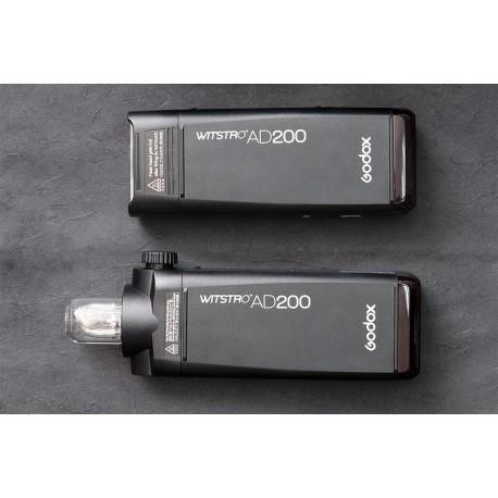Godox AD200 zibspuldze ar bateriju un bezvadu raidītāju Canon