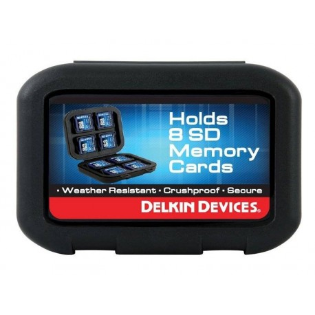 Atmiņas kartes - DELKIN WEATHER RESISTANT CASE FOR 8 SD MEMORY CARDS - быстрый заказ от производителя