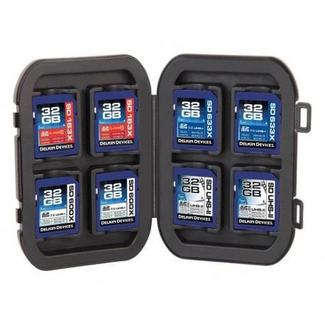 Memory Cards - DELKIN WEATHER RESISTANT CASE FOR 8 SD MEMORY CARDS - quick order from manufacturer