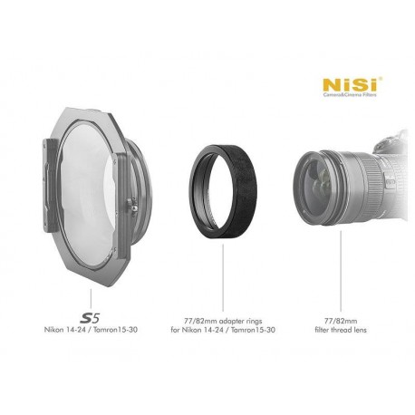 Adapters for filters - NISI ADAPTER RING FOR S5/S6 HOLDER NIK14-24/TAM15-30 - 77MM ADP 77MM S5 14-24 - quick order from manufacturer
