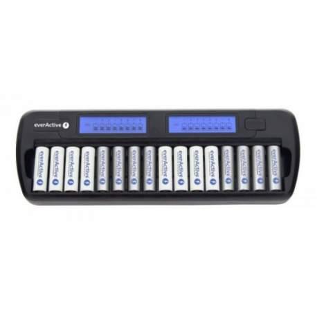 Pirkstiņu baterijas zibspuldzēm - everActive NC-1600 NiMH 1-16 AA/AAA lādētājs 16 baterijām - ātri pasūtīt no ražotāja