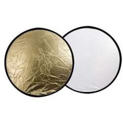 Saliekamie atstarotāji - Linkstar reflektors 30cm 2 vienā, zeltīts/sudrabots (R-30GS) - perc šodien veikalā un ar piegādi