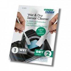 Foto kameras tīrīšana - Green Clean sensora tīrīšanas komplekts Wet Foam Swab & Dry Sweeper (SC-6070) - perc šodien veikalā un ar piegādi