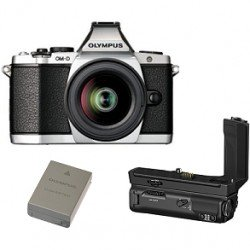 Bezspoguļa kameras - Olympus E-M5II 1240 Kit slv/blk + HLD-8 Power Battery Holder + BLN-1 Battery - ātri pasūtīt no ražotāja