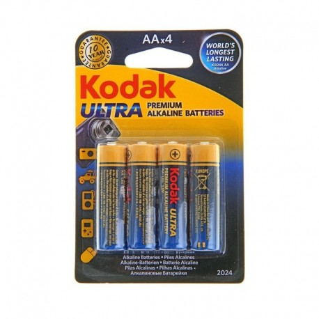 Pirkstiņu baterijas zibspuldzēm - AA LR6*4gb ULTRA DIGITAL Baterija - perc šodien veikalā un ar piegādi