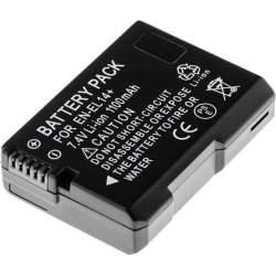 Kameru akumulatori - Akumulators Newell EN-EL14 baterija priekš Nikon D3100, D3200, D5100, P7000, P7100, P7700 battery 1150mAh ar čipu - perc šodien veikalā un ar piegādi