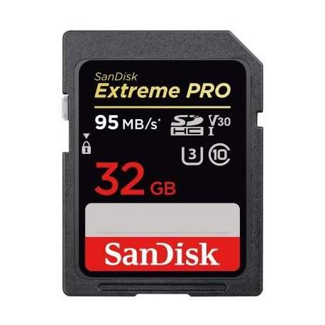 Карты памяти - SanDisk Extreme PRO SDHC UHS-I V30 95MB/s 32GB (SDSDXXG-032G-GN4IN) - купить сегодня в магазине и с доставкой