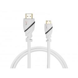 Kabeļi - FOCUS JUMBL HDMI A - HDMI C (MINI) 180CM WHITE - ātri pasūtīt no ražotāja