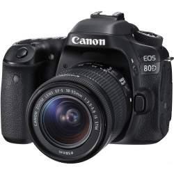 Spoguļkameras - Canon EOS 80D DSLR Camera with 18-55mm IS STM Lens - perc šodien veikalā un ar piegādi