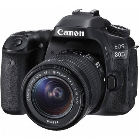 Spoguļkameras - Canon EOS 80D DSLR Camera with 18-55mm IS STM Lens - ātri pasūtīt no ražotāja