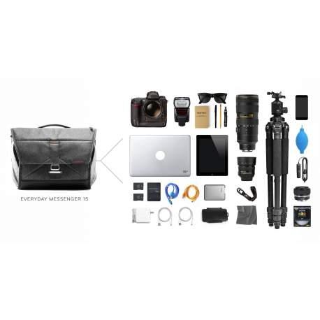 Plecu somas - Peak Design Everyday Messenger V2 15 Ash - ātri pasūtīt no ražotāja