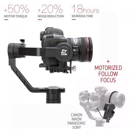 Stabilizatori - Zhiyun Crane 2 Stabilizators ar follow focus motoru - perc šodien veikalā un ar piegādi