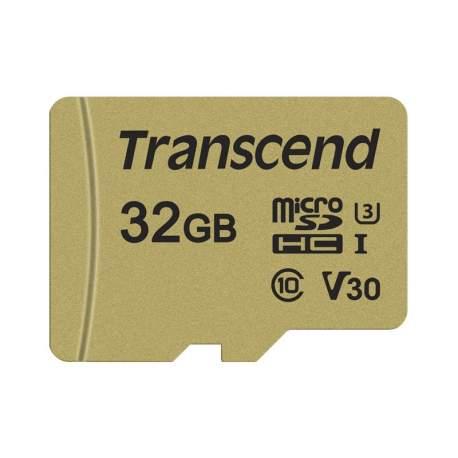 Atmiņas kartes - TRANSCEND 32GB UHS-I U3 GOLD MICROSD W. ADAPT - perc šodien veikalā un ar piegādi