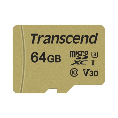 Atmiņas kartes - TRANSCEND 64GB UHS-I U3 GOLD MICROSD W. ADAPT - perc veikalā un ar piegādi
