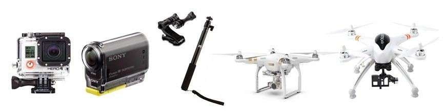Action Cameras and Multicopters
