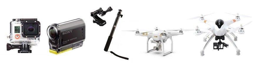 Sporta kameras un Multikopteri