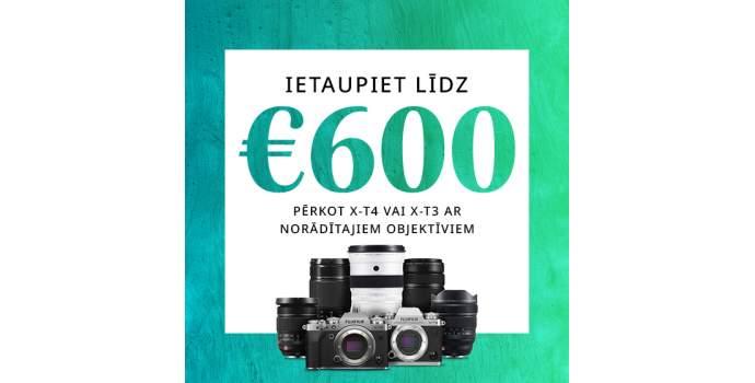 Fujifilm X-T3 un X-T4 ar objektīviem lētāk!